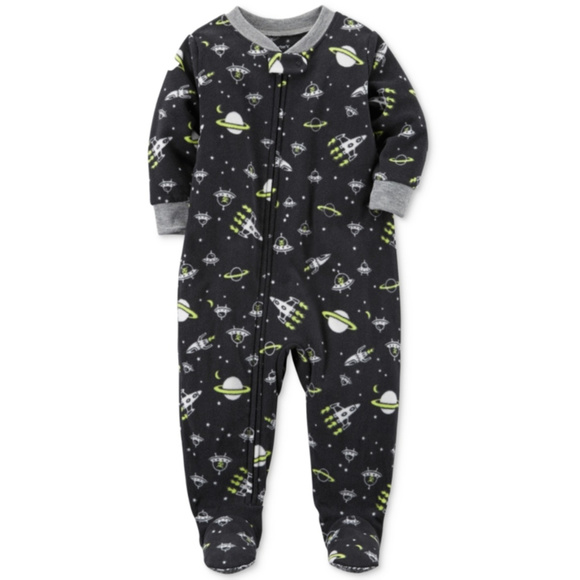 d3e59c5d73 Carters Toddler Boy 2T Fleece Footed Pajamas Space